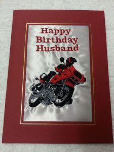 HAPPY BIRTHDAY CARD - Motorbike Motor Bike